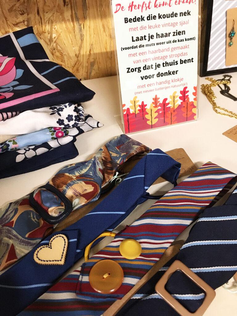 Upcycling haarbanden van stropdassen