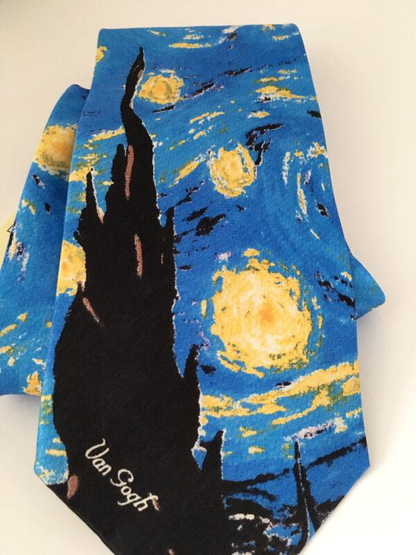 Starry night necktie, Vincent Van Gogh