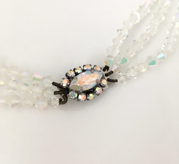 vintage AB glass necklace