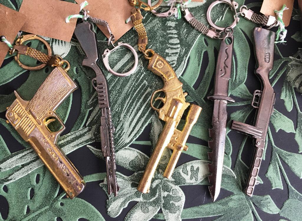 Collectable wapen sleutelhangers