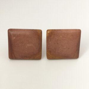 Manchetknopen met bruine steen