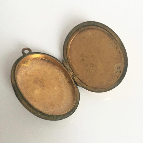 Antiek goud gevuld medaillon