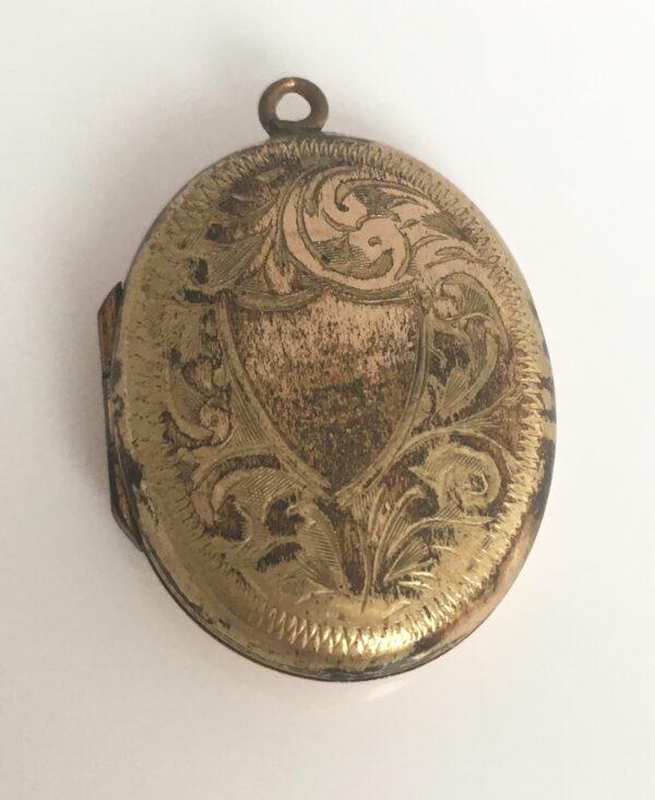 Antiek medaillon gold filled