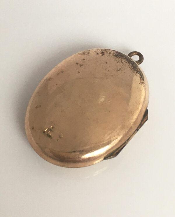 Rolled filled Edwardian locket