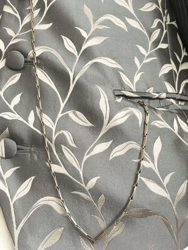 Elegante smalle art deco zakhorloge ketting