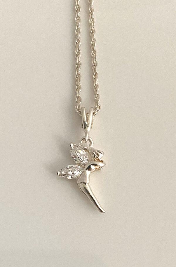 Tinkerbell fair pixie charm necklace