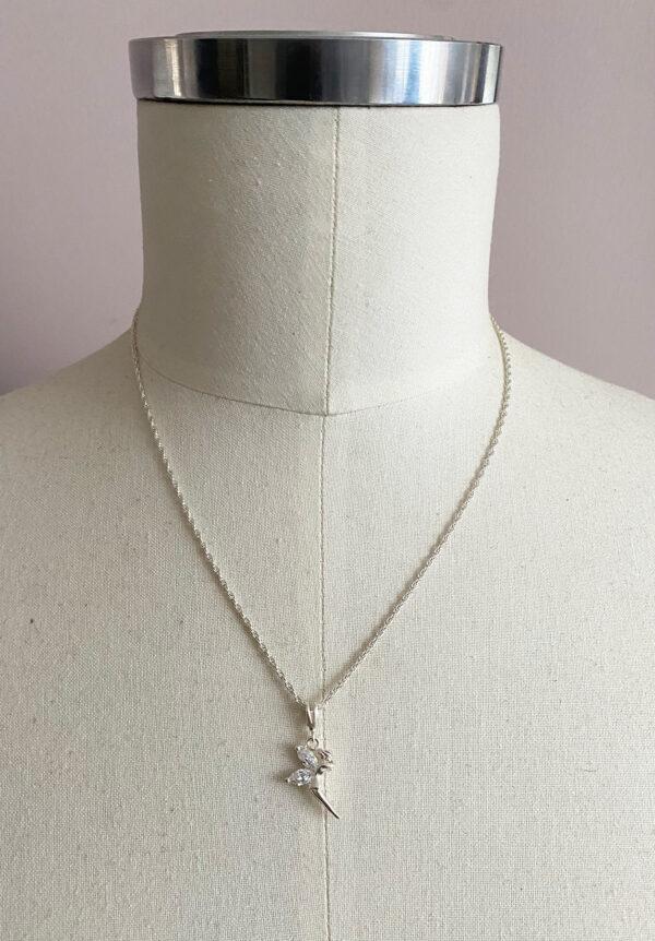 Zilveren ketting met elfje of Tinkerbell