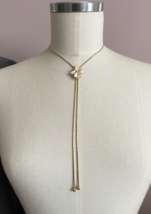 Risis slider necklace orchid