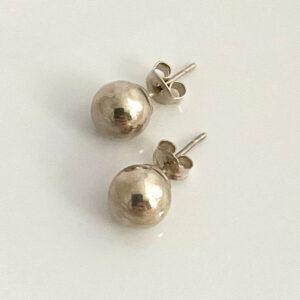 zilveren ronde oorknopjes