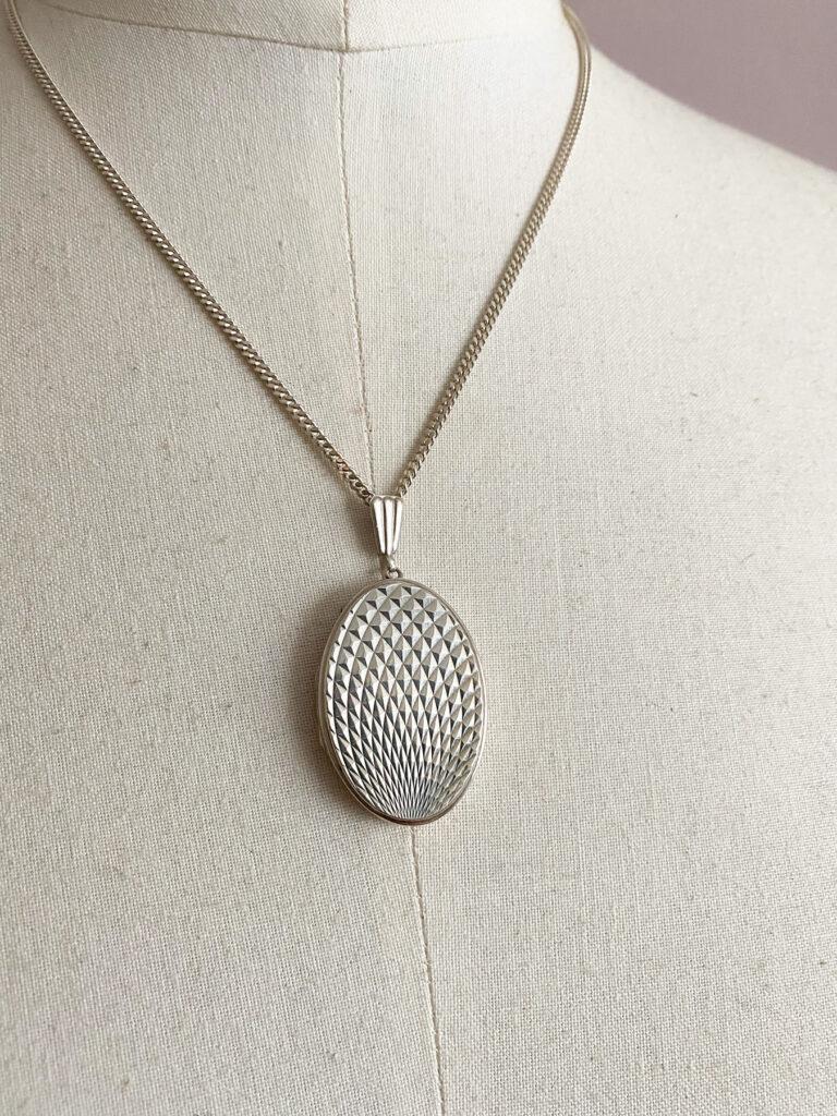 Vintage silver locket Georg Jensen