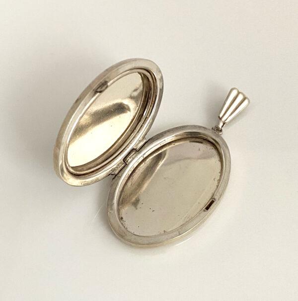 Vintage silver locket Georg Jensen Ltd