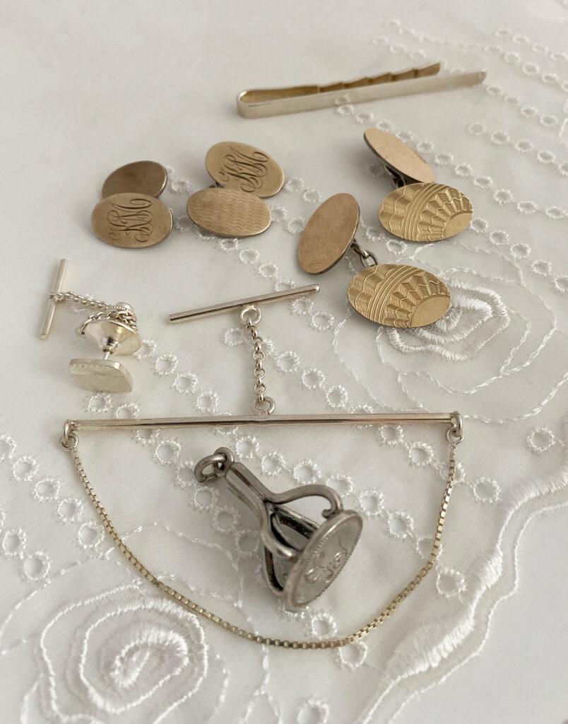 vintage zilveren sieraden voor de man