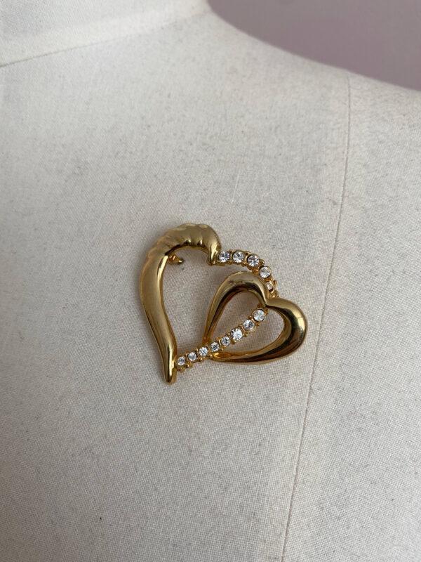 vintage broche in hartvorm