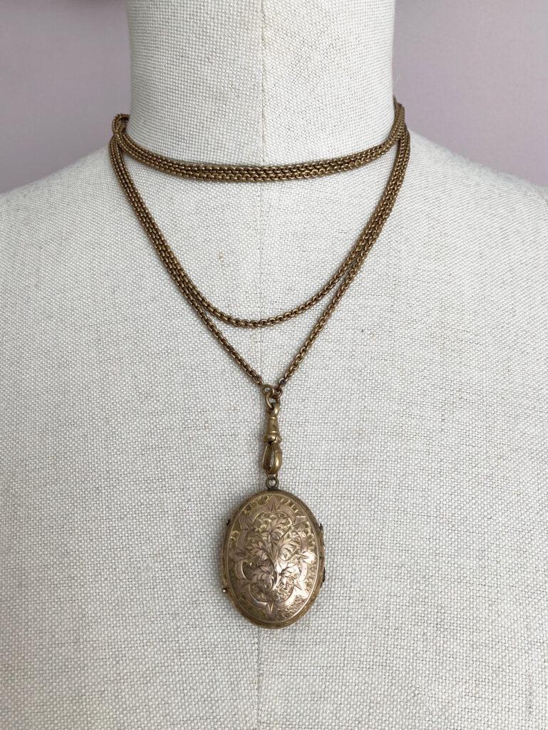 lange zakhorloge ketting, antieke guard chain