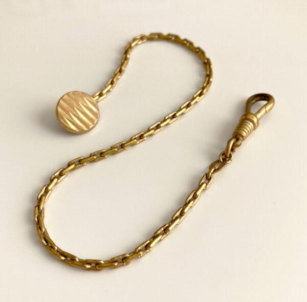 Art Deco button watch chain