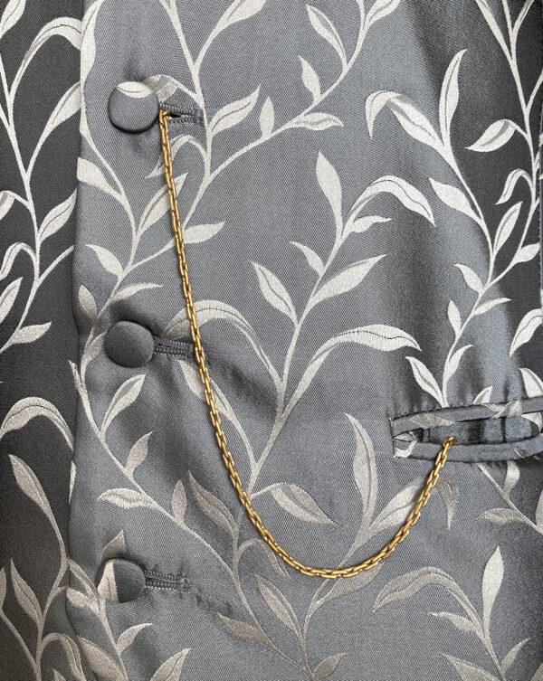 Art Deco button zakhorloge ketting