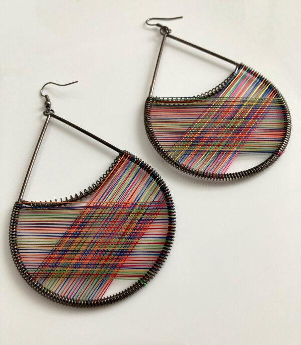 grote kleurrijke oorbellen